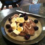 Vegan Banana Chocolate Pancakes